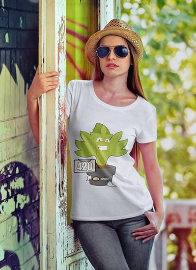 camiseta 420 modelo2_mujer_camiseta_seedspromo