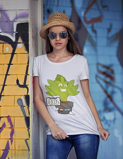 camiseta 420 modelo_mujer_camiseta_seedspromo