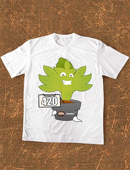 camiseta 420 hombre seedspromo